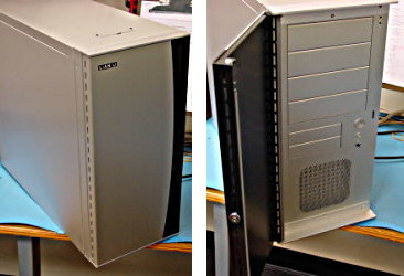 This eRacks chassis has rubber grommets for vibration dampening, isolated PSU, and fan speed-controllers.