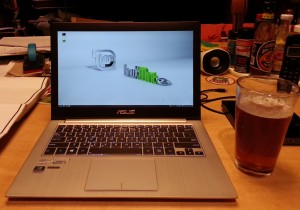 Zenbook with beverage - IMG_20131019_231446531