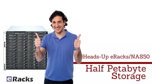 eRacks/NAS50 Half Petabytes of Data Storage Server / Cloud Storage