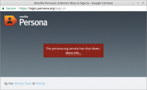 Mozille BrowserID / Persona Dies