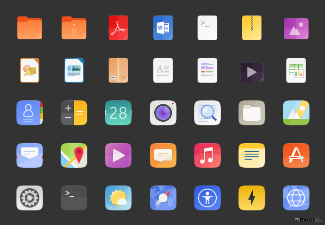 A Brand New Icon Set
