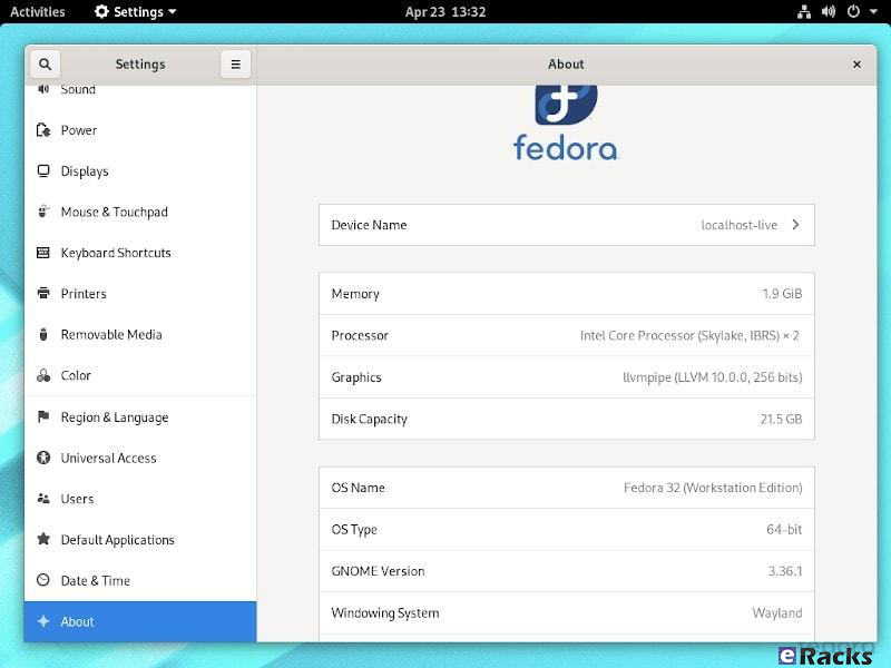fedora-32-settings